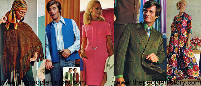 Fashion Clothing Examples From 1970 including