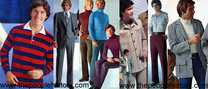 Examples of Men's Fashions from the 70's