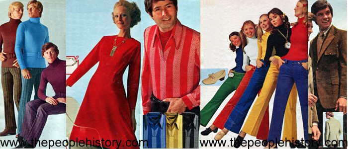 Fashion Clothing Examples From 1971 including