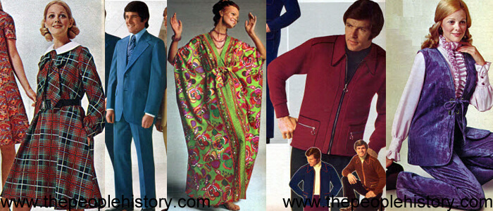 Fashion Clothing Examples From 1972 including