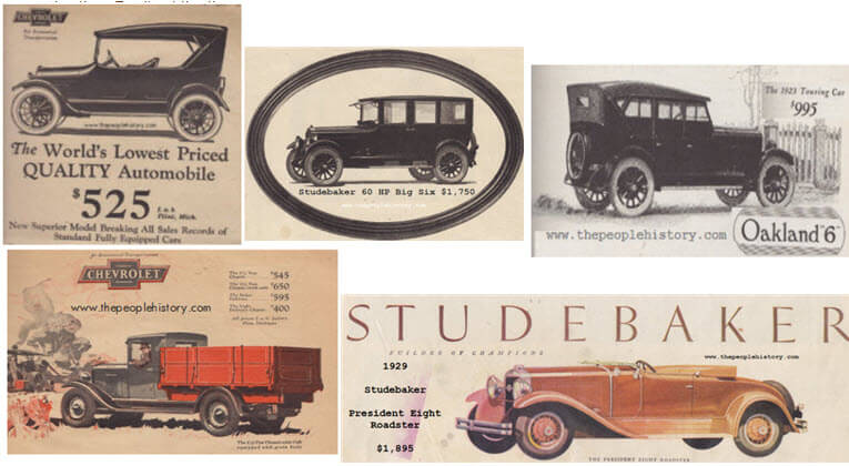 Cars Examples From The 1920s