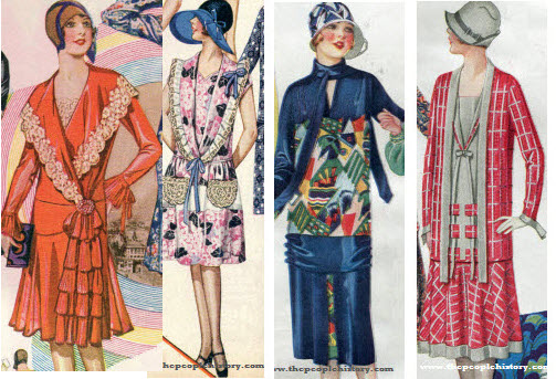 Examples of Ladies Dresses From The 1920's