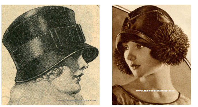 Ladies 20s Flapper Fashions Style Hats Examples