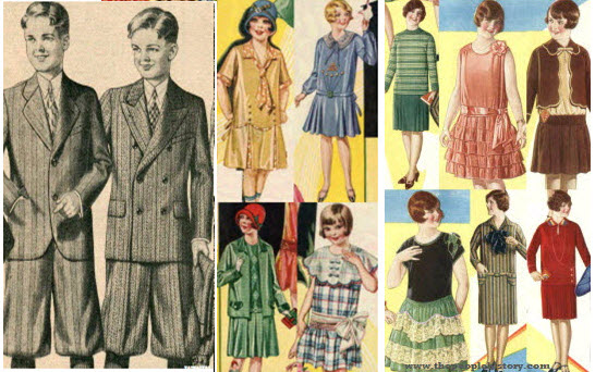 Children's Clothing Examples From The 1920s