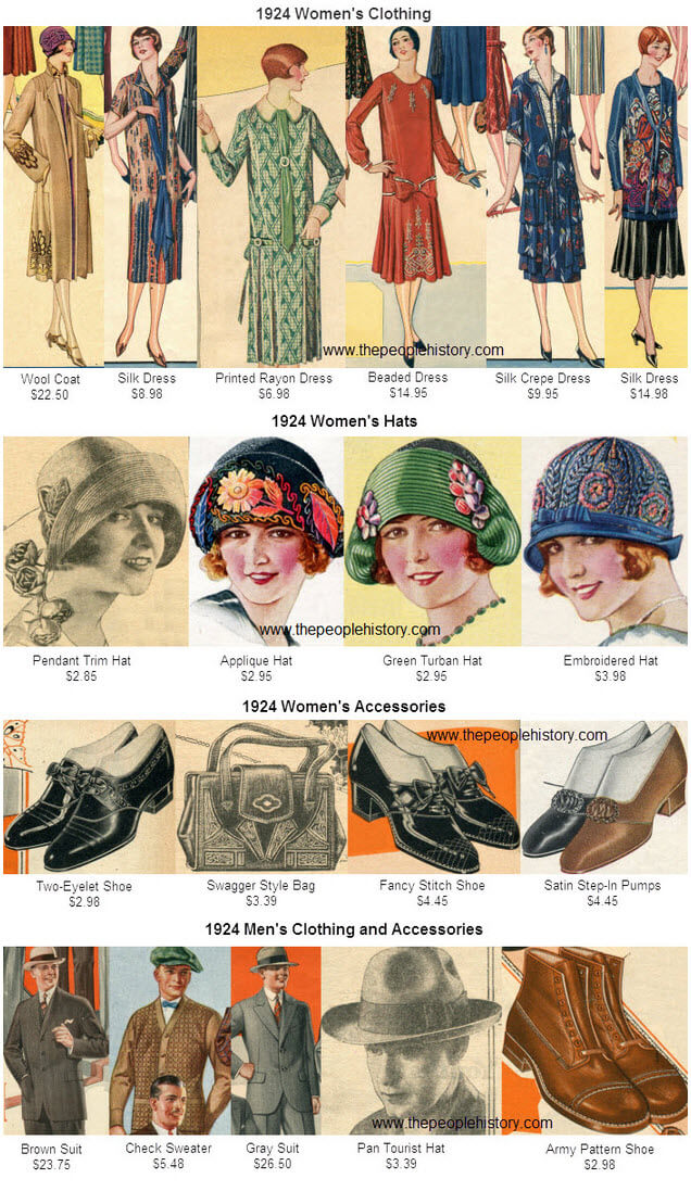 Fashion Clothing Examples From 1924