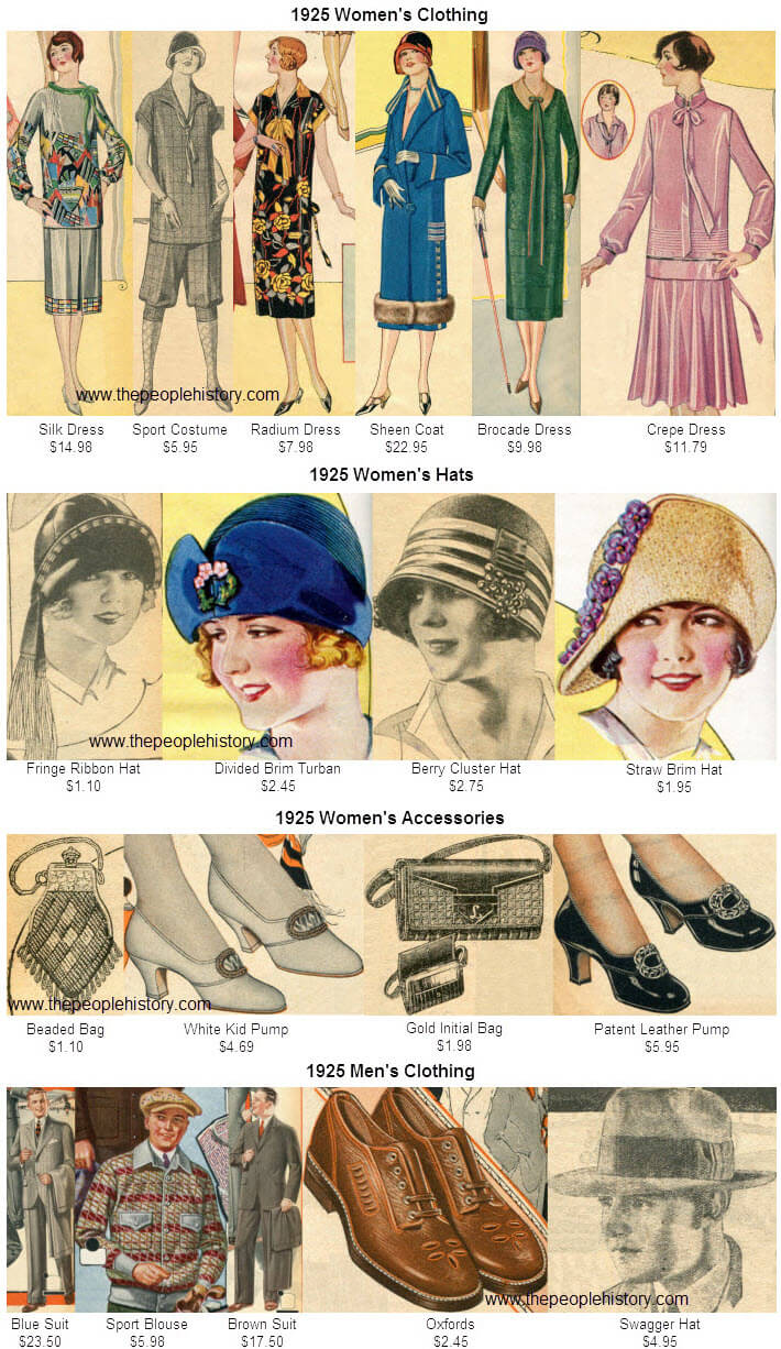 Fashion Clothing Examples From 1925