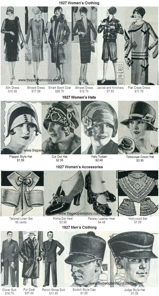1927 Fashion Clothing Examples