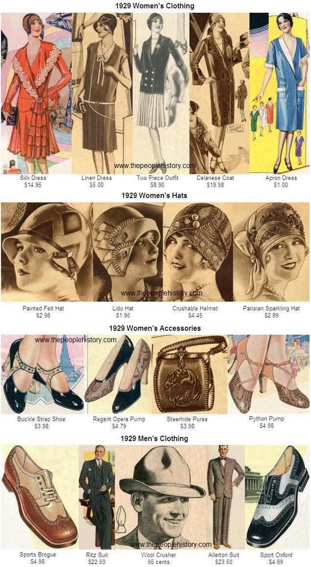1929 Fashion Clothing Examples