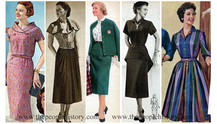 Examples of Ladies Dresses From The 1950's