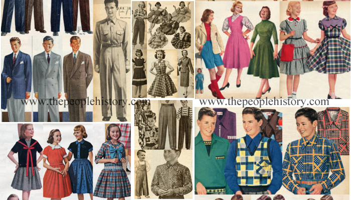 Children's Clothing Examples From The 1950s
