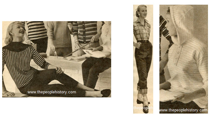 Fifties Girls Fashion Clothing Examples