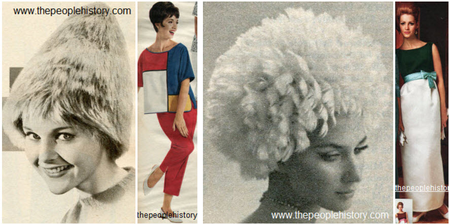 The Shag Hat, Colorblock Pajamas, Feather Wig Hat, Velvet Bodice Dress