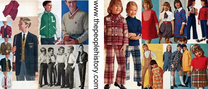 Children's Clothing Examples From The 1960s