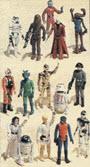Vintage 1980s Star Wars Figure Set