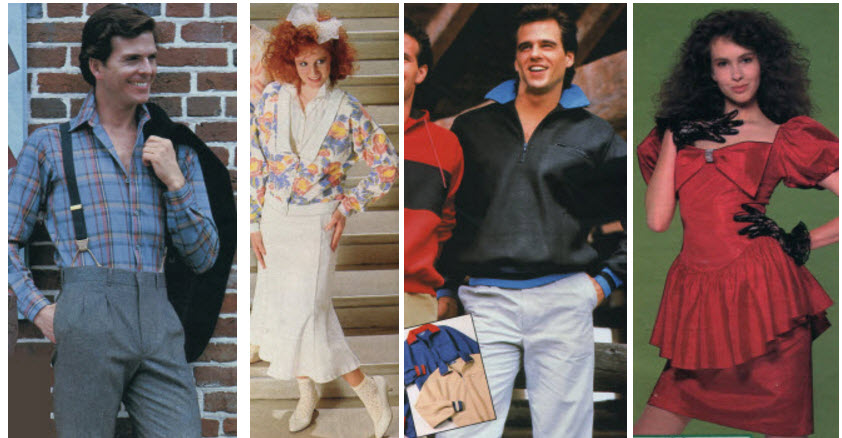 51daffec20b Clothes and men s and ladies fashions in the 1980 s prices and examples