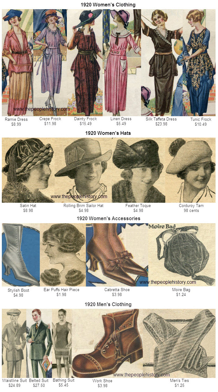 Fashion Clothing Examples From 1920