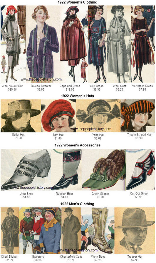 1922 Fashion Clothing Examples