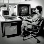 1980s Computer Worker