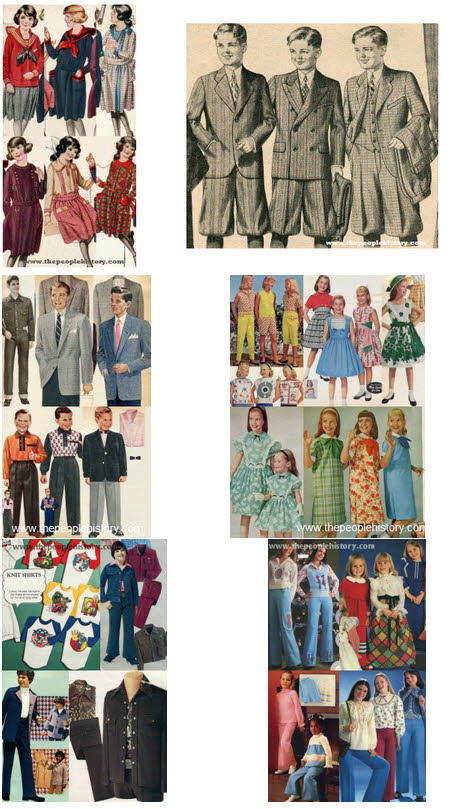 Kids Clothes Through The Decades