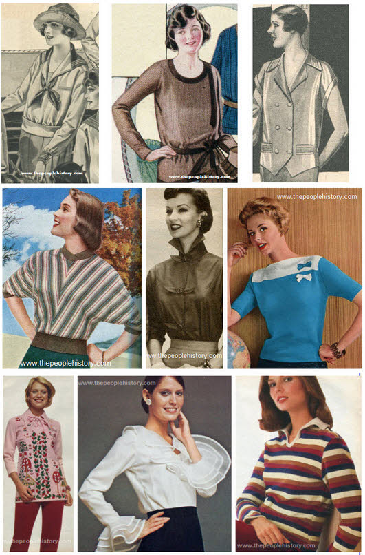 Ladies Blouses and Tops Examples