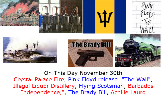 On This Day November 30th Warren Commission, UK Petrol Rationing, Louisiana Purchase, New York Giants, The Beatles I Want to Hold Your Hand,