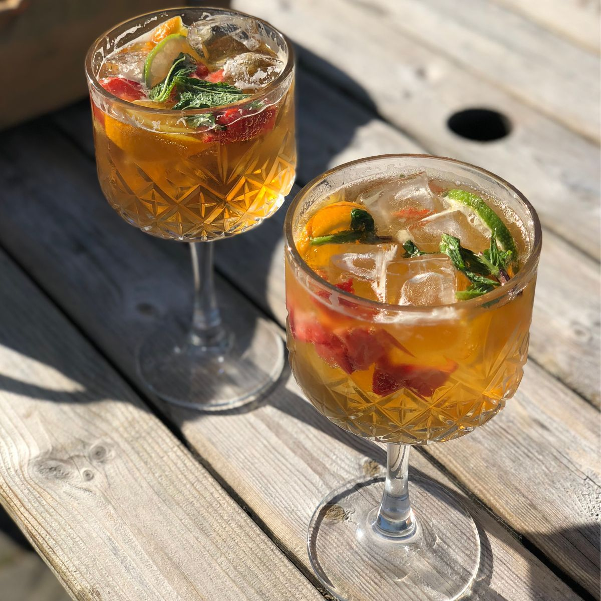 You don't have to be in England to enjoy a Pimm's Cup, a refreshing mix of spirits, citrus, fruit, and fizz. Delicious on any day, but practically medicinal when it's hot out. Made with Pimm's No. 1, a gin-based digestif created by Londoner James Pimm, we shake and strain our Pimm's Cup, but it can also be built in the glass (or pitcher) and is perfect for day-drinking. Even when Wimbledon isn't on. There are many different recipes for this classic cooler. Some use ginger ale. Some use sparkling lemonade. Anything that sparkles and is a flavor you like is the best way to go.