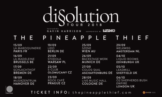 The Pineapple Thief & Lizzard live in Munich, 26 September 2018