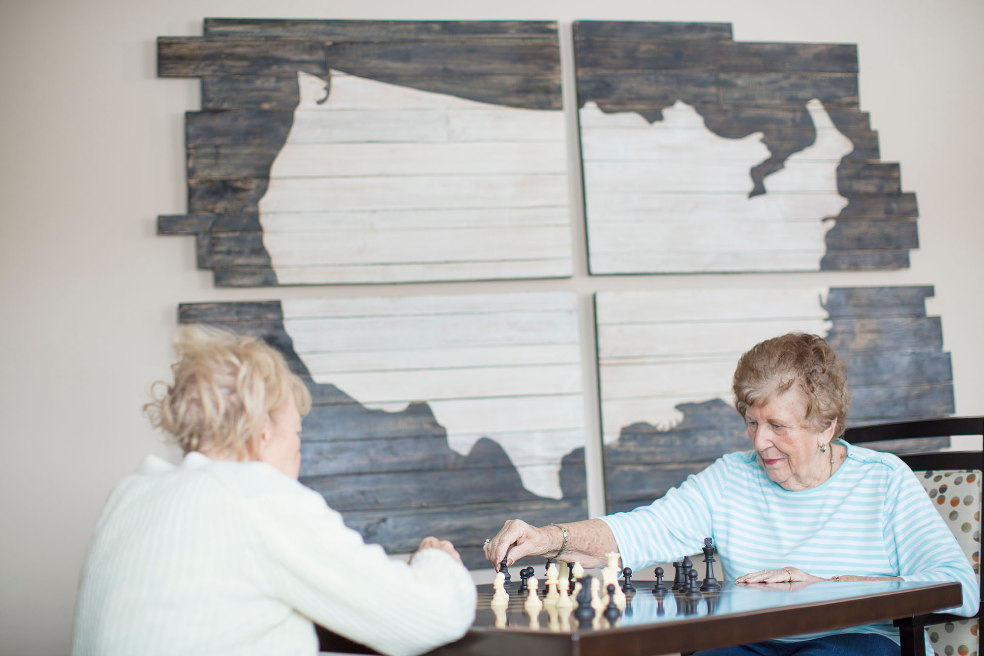 Residents playing chess