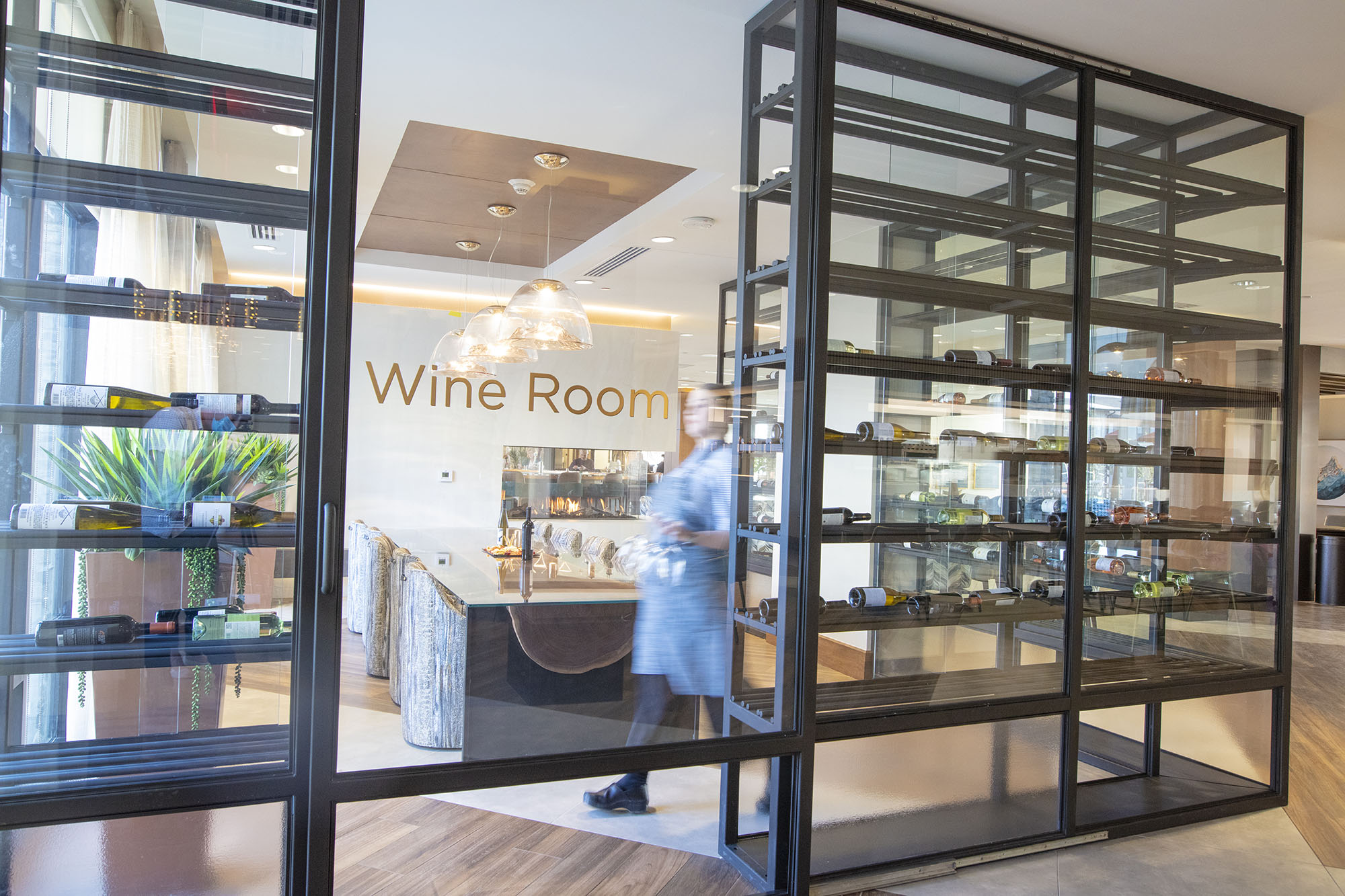 a glimpse of the Wine Room