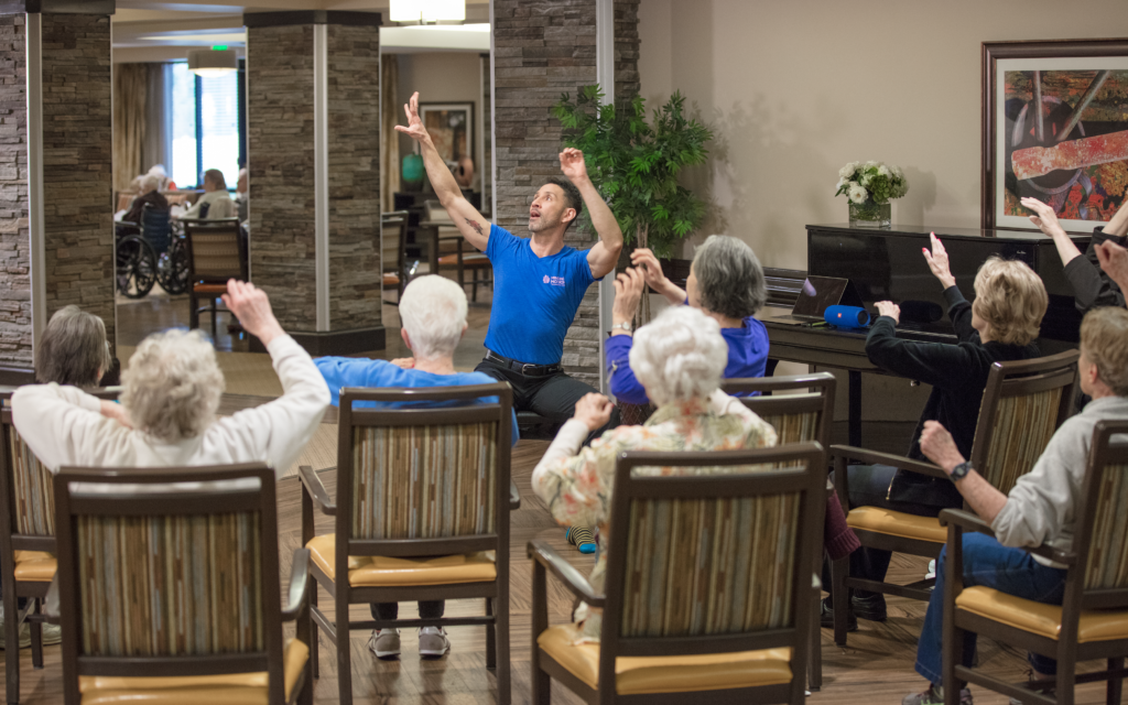 Music and Memory instructor leading a class of residents.