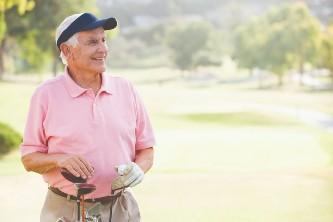 senior man enjoying a day on the golf course