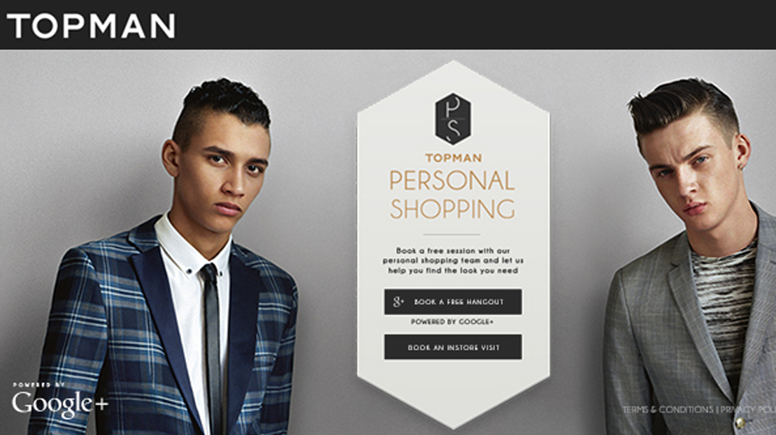 Topman launches new personal shopping service