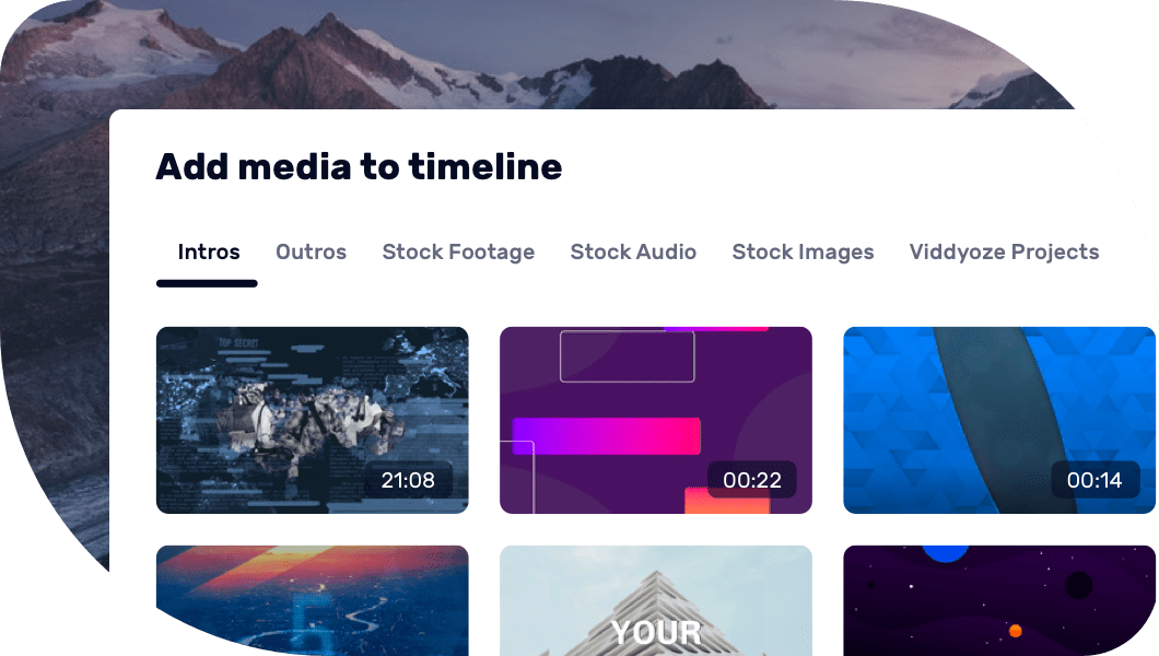 Add Intros, Outros, Stock Footage, and Stock Audio to your videos
