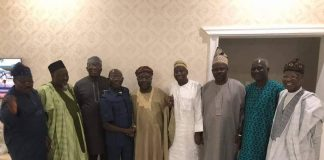 APC leaders with Omisore after their meeting in Ile-Ife