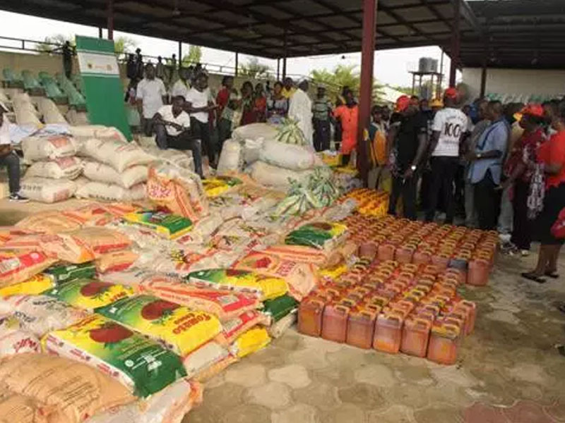 Image result for DESOPADEC donates relief materials to Flood victims in Patani