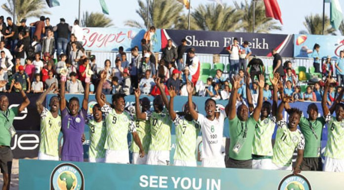 Nigeria First to Qualify for FIFA Beach Soccer World Cup Paraguay 2019