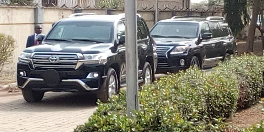 BREAKING NEWS PHOTO! Justice Onnoghen arriving the CTT premises on Friday morning