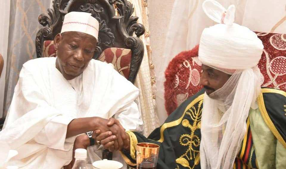 Just In: Emir Of Kano Sanusi Absent At Ganduje's Inauguration
