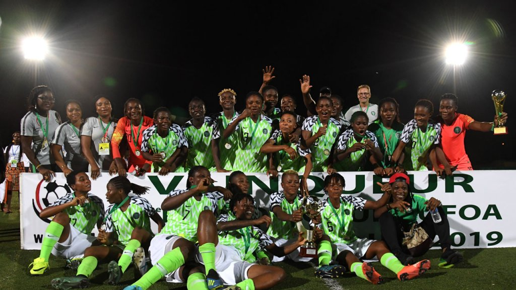 Buhari congratulates Falcons on victory at WAFU Women's Cup