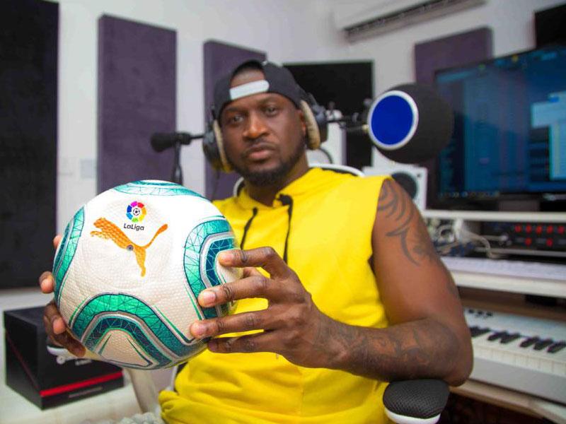 Image result for Peter Okoye (Mr P), VJ Adams 'Unboxes' New LaLiga Ball