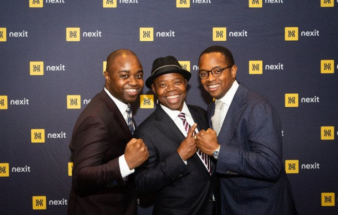 L-R:Vincent Ebuh Jr, Dr Ebuh and Joel Ebuh, MD Nexit, during launch of Nexit in New York.