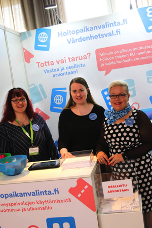 TERVE-SOS 2108 -näyttelyssä mukana oli hoitopaikanvalinta.fi