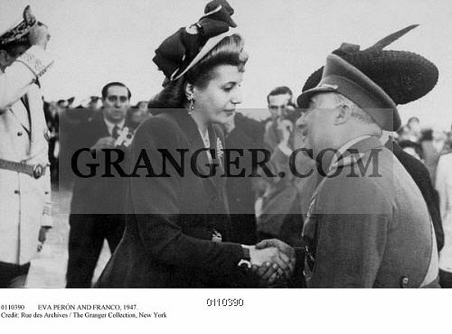 Image of EVA PERÓN AND FRANCO, 1947. - General Francisco Franco Greets Argentine First Lady ...