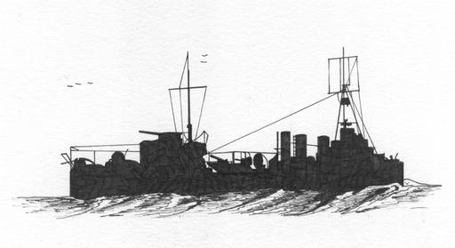 WARSHIPSRESEARCH: French destroyer Mécacien principal Lestin (1915) in 1923