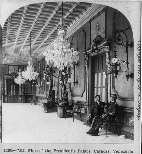 Foto: Año 1902, Palacio de Miraflores. Caracas, Venezuela. | Venezuela Mia, Venezuela Tuya.