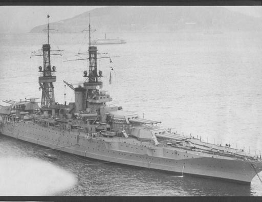 [Photo] USS New Mexico an anchor, California, United States, 1922-1924 | World War II Database