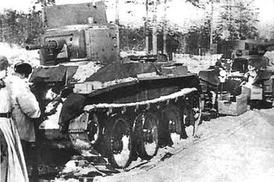 [Photo] Russian BT-5 tank in Finland during the Winter War, 1939-1940 | World War II Database