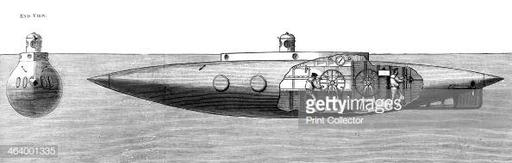 'The Displacement Sinking and Rising Submarine Boat 'Nautilus'', 1887. Pictures |  Images