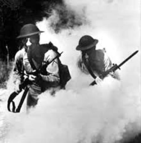 Poison Gas WWI timeline   Timetoast timelines