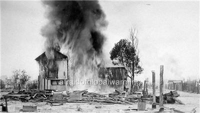 Photo. 1924. Los Angeles, CA. Plague - Mexican Village on Fire - 26th & Boyle | eBay